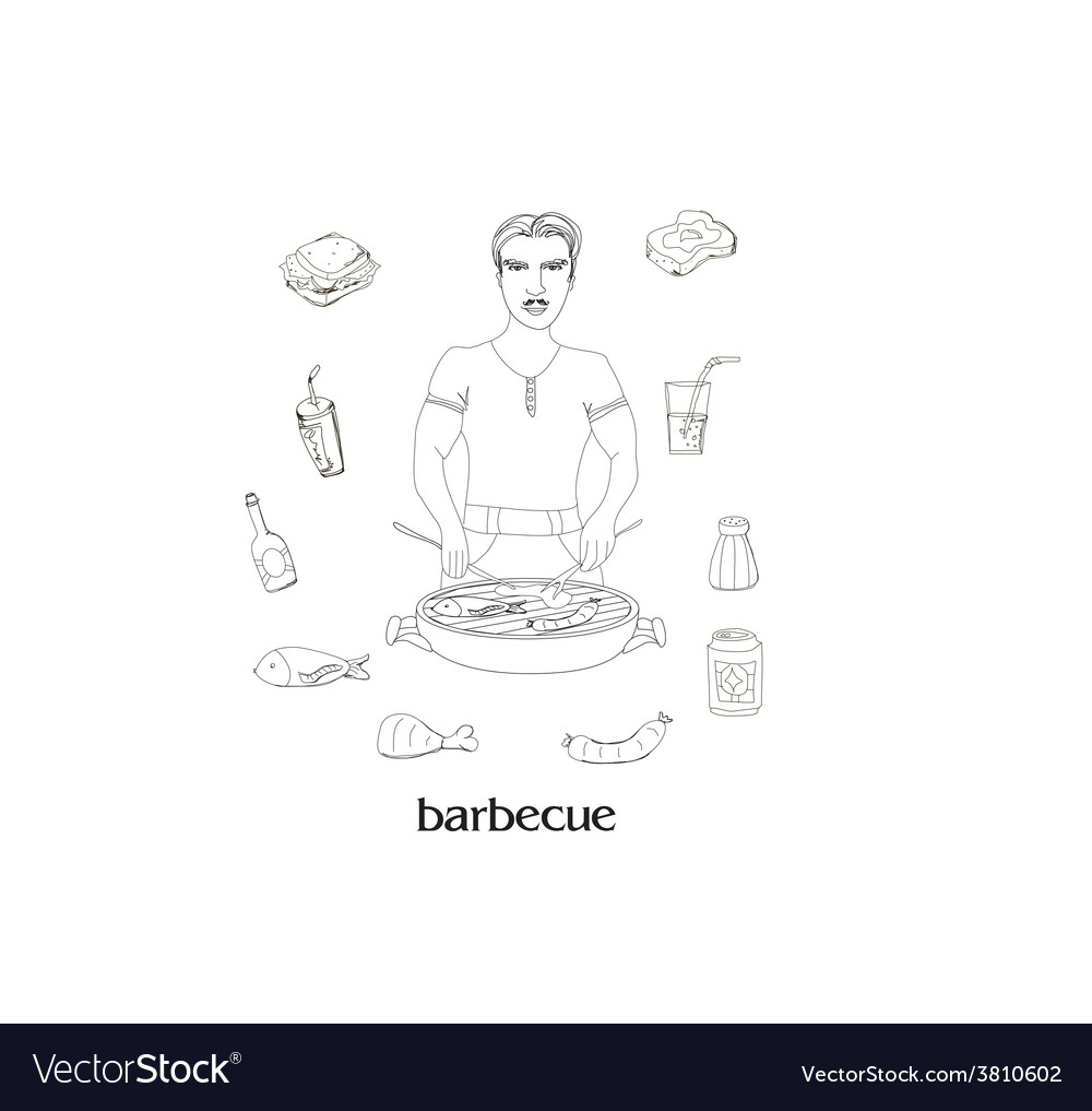 Barbecue icon set vector | Price: 1 Credit (USD $1)