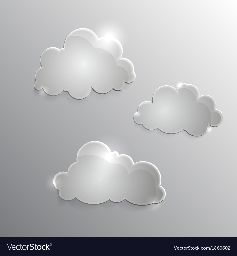 Clouds icon vector | Price: 1 Credit (USD $1)