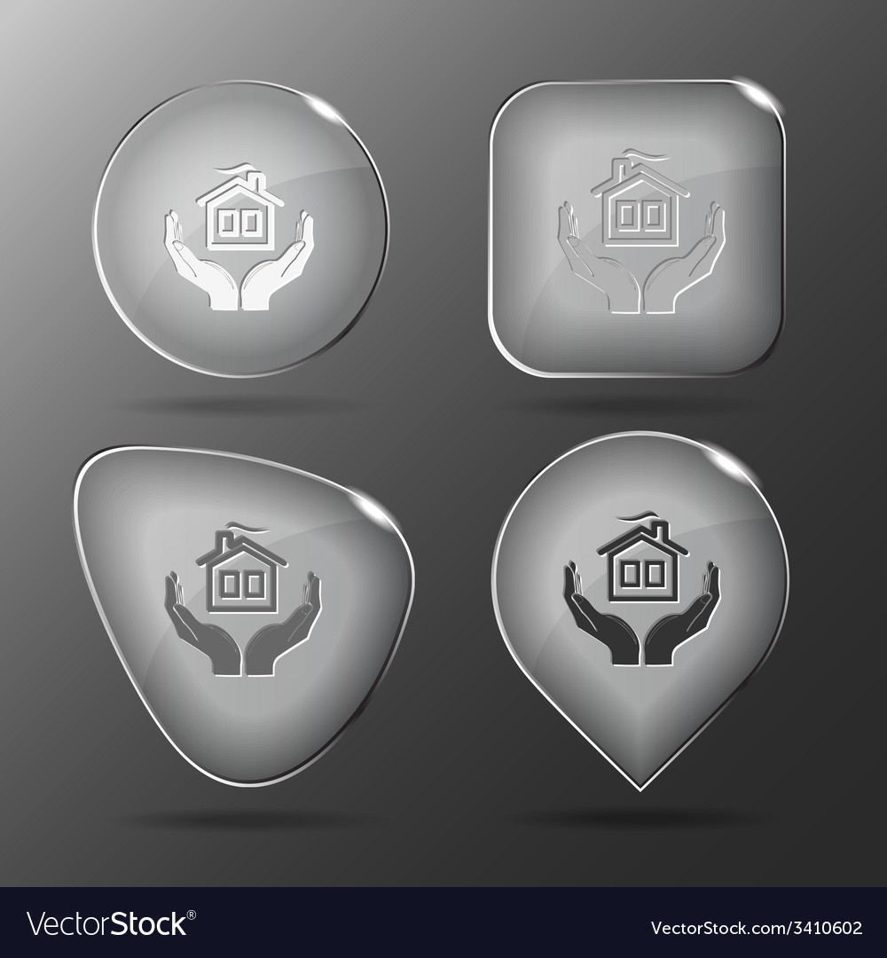 Comfort in hands glass buttons vector | Price: 1 Credit (USD $1)