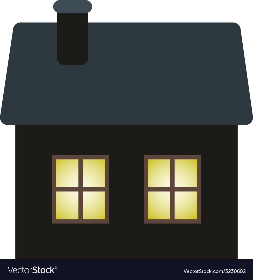Dark cottage vector | Price: 1 Credit (USD $1)