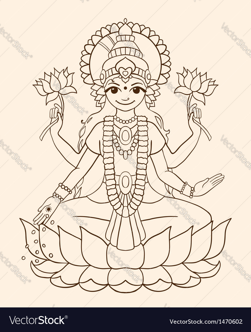 Goddess lakshmi vector | Price: 1 Credit (USD $1)