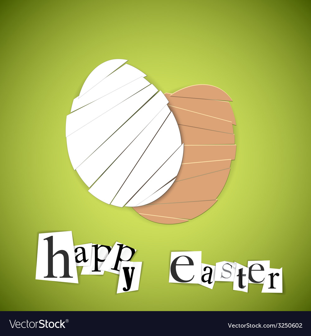 Green paper easter egg card vector | Price: 1 Credit (USD $1)
