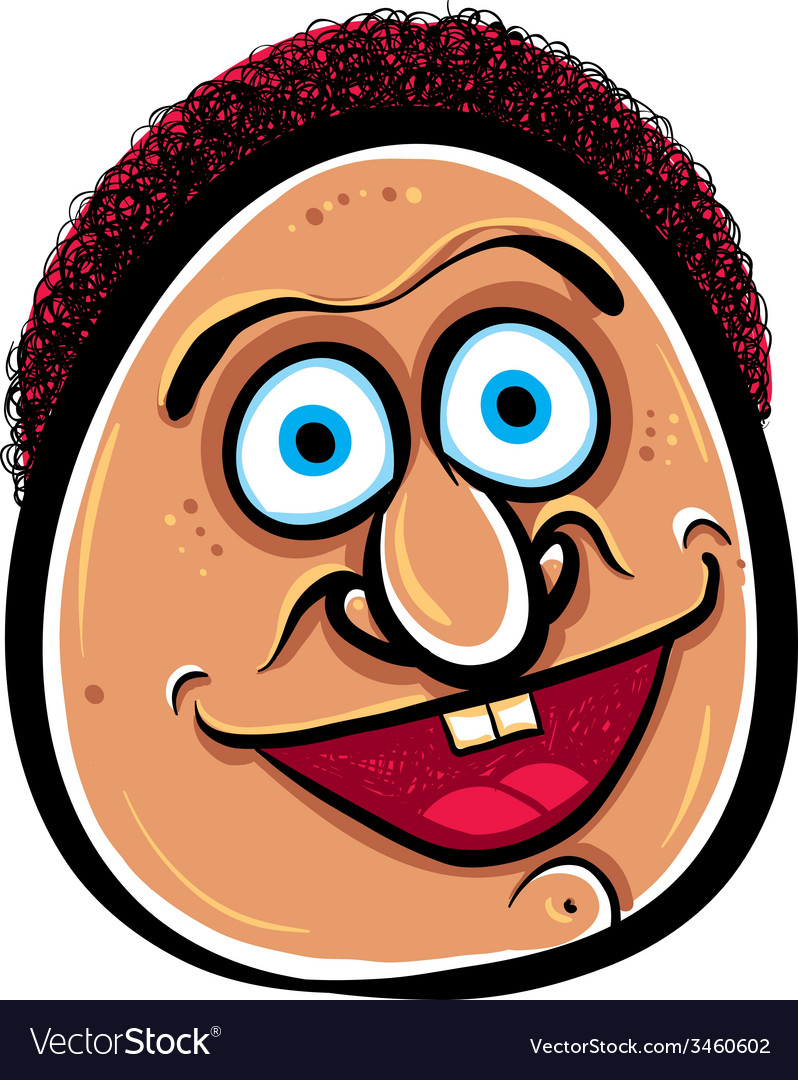Happy cartoon face vector | Price: 1 Credit (USD $1)