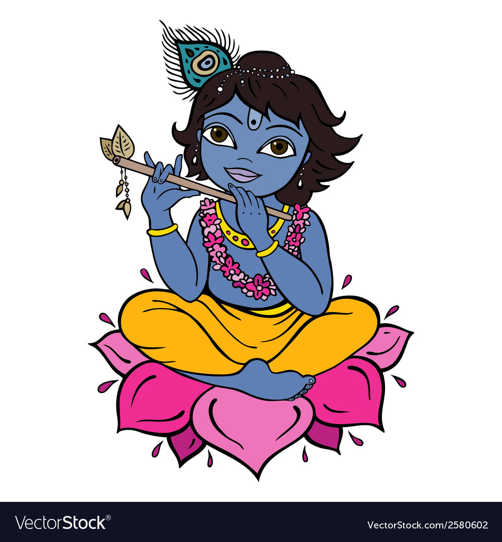 Hindu god krishna vector   Price: 1 Credit (USD $1)