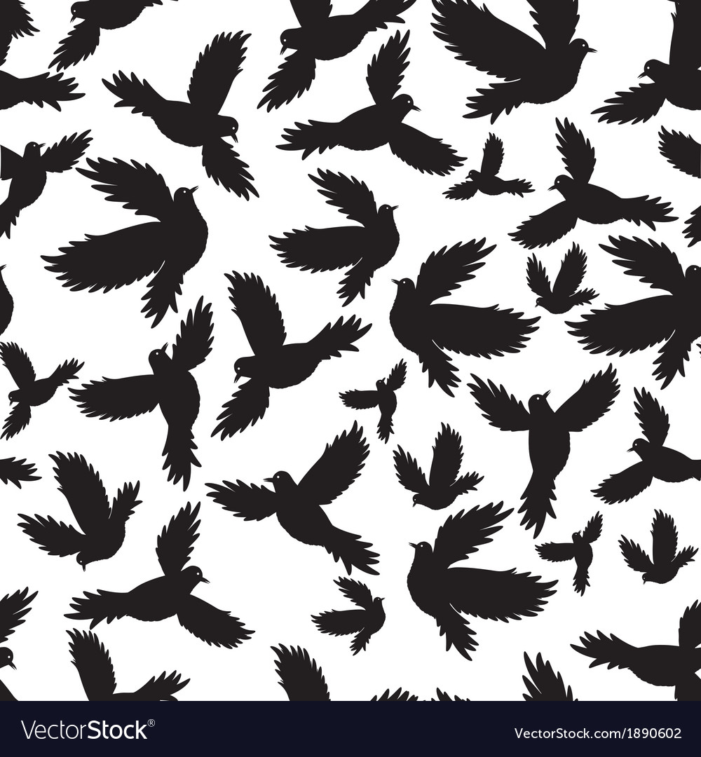 Holy birds dove seamless pattern vector   Price: 1 Credit (USD $1)