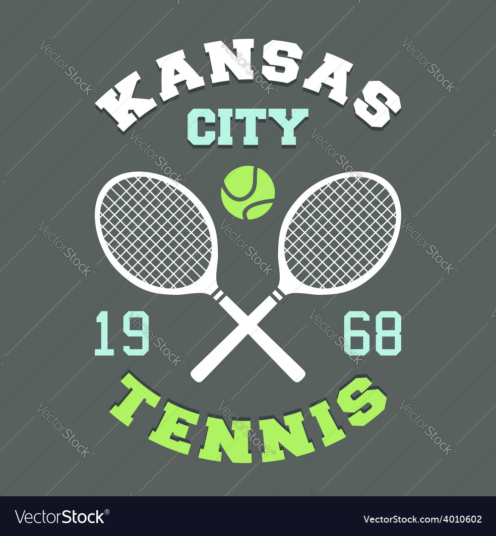 Kansas city tennis tshirt vector