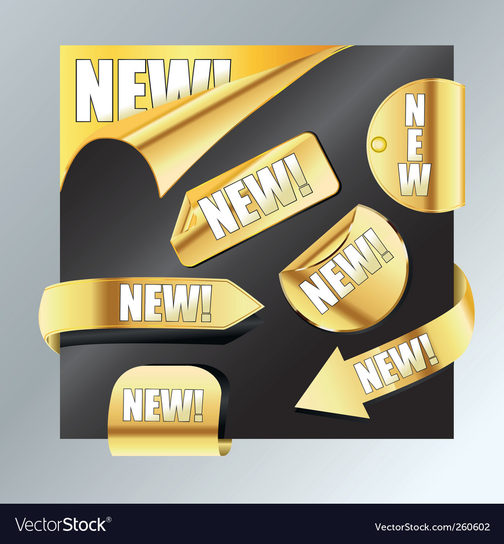 New items vector | Price: 1 Credit (USD $1)