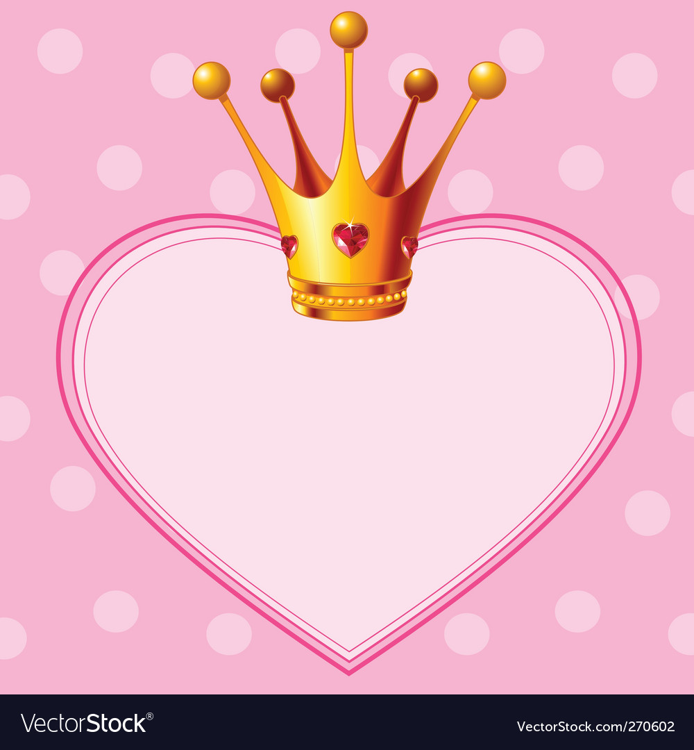 Princess crown on pink background vector | Price: 1 Credit (USD $1)