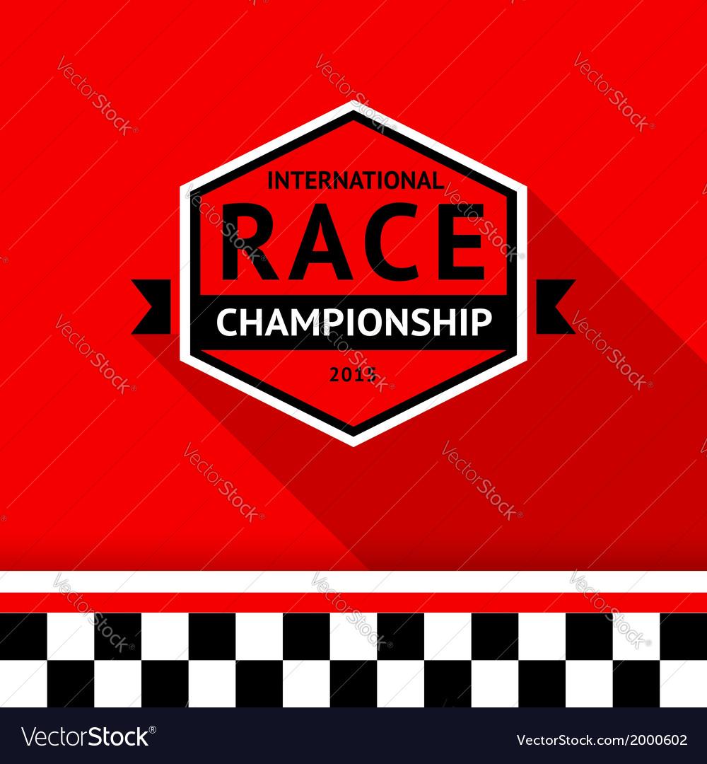 Racing badge 03 vector | Price: 1 Credit (USD $1)