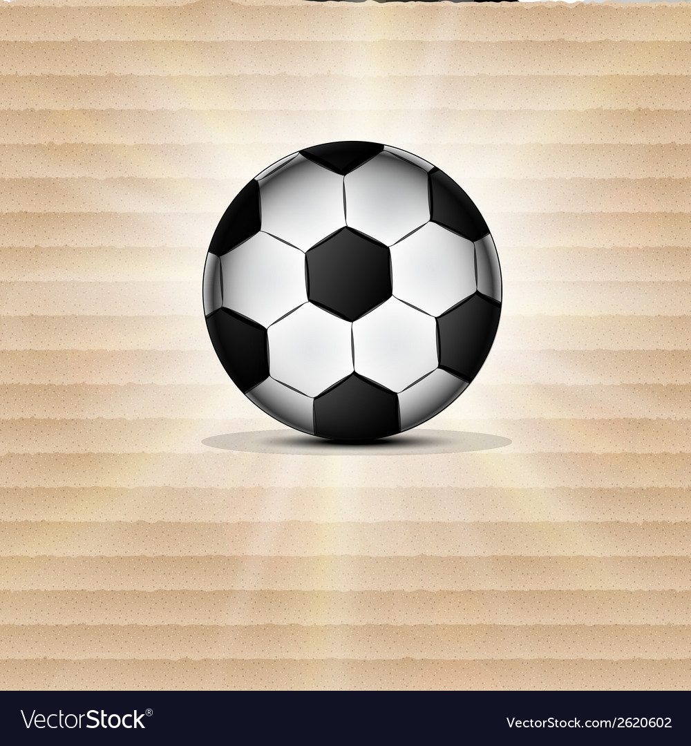Soccer ball icon flat design blurry light effects vector | Price: 1 Credit (USD $1)