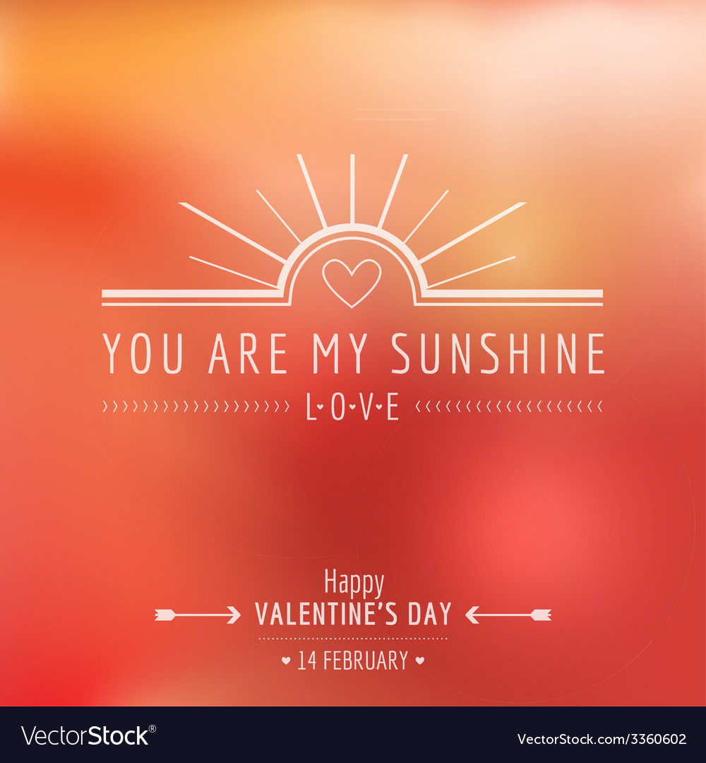 Valentines day card - with love quote vector | Price: 1 Credit (USD $1)