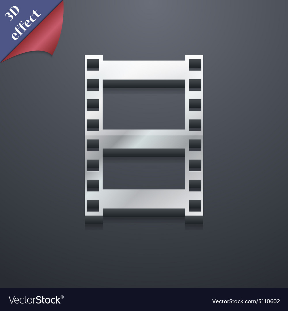 Video icon symbol 3d style trendy modern design vector | Price: 1 Credit (USD $1)