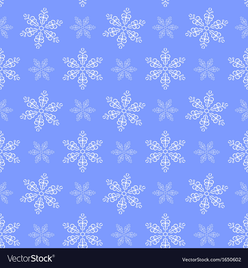 Winter pattern with snowflakes vector | Price: 1 Credit (USD $1)