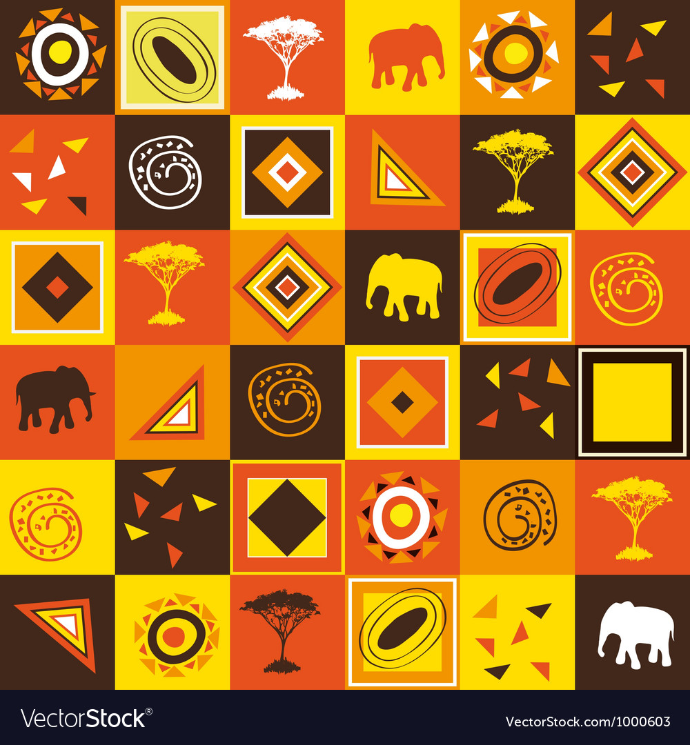 African seamless vector | Price: 1 Credit (USD $1)