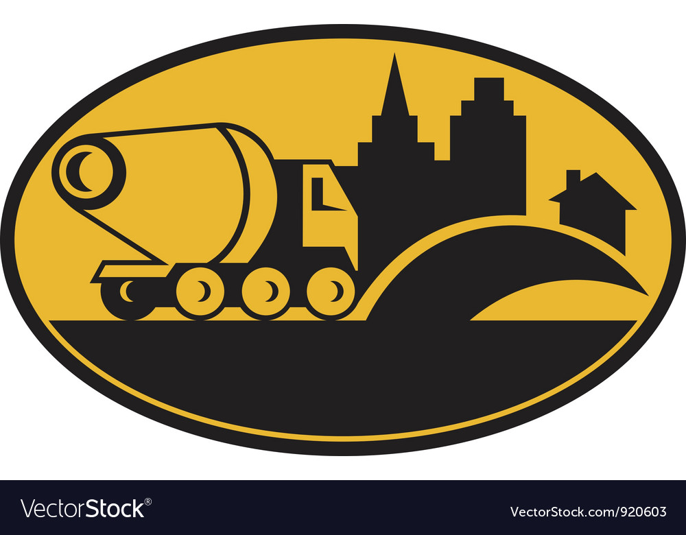 Cement truck construction vector | Price: 1 Credit (USD $1)
