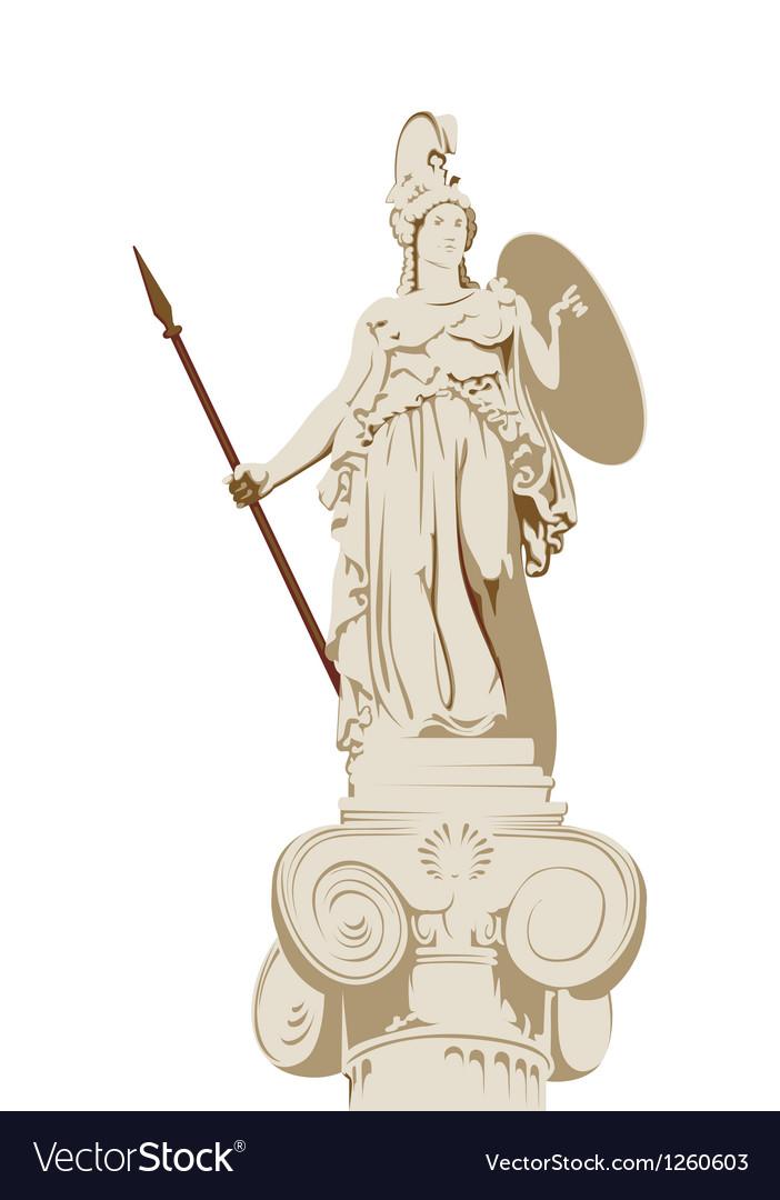 Greek statue of athena vector | Price: 1 Credit (USD $1)