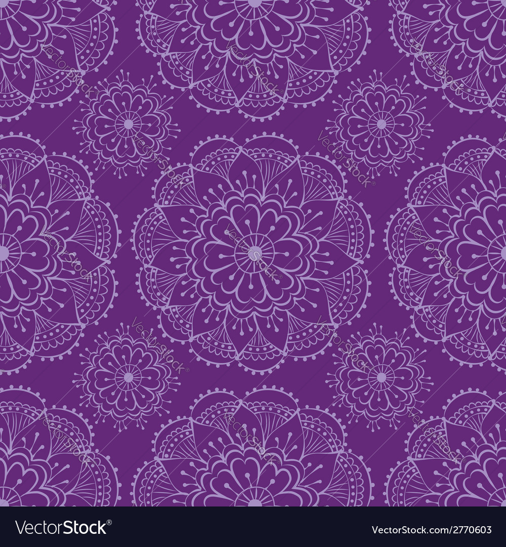 Henna seamless pattern vector | Price: 1 Credit (USD $1)