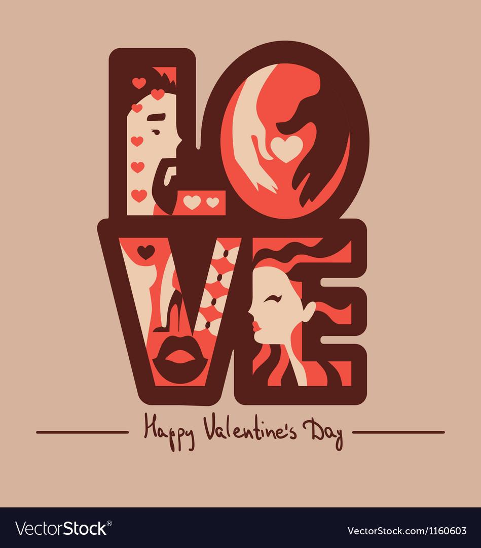 Love typography background vector | Price: 1 Credit (USD $1)