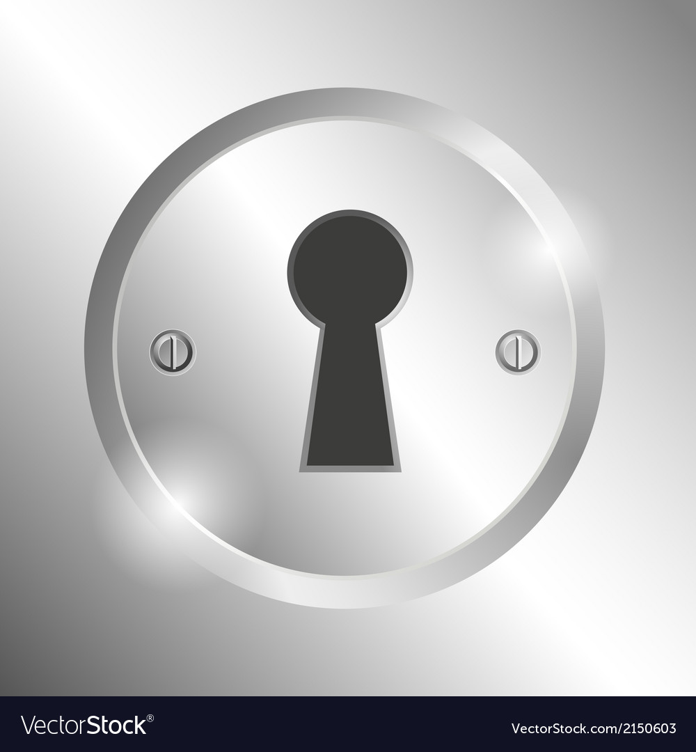 Metal keyhole vector | Price: 1 Credit (USD $1)
