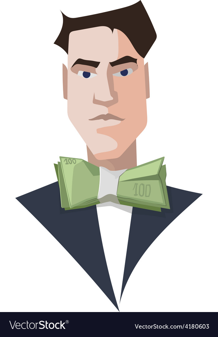 Rich man businessman luxury vector | Price: 1 Credit (USD $1)