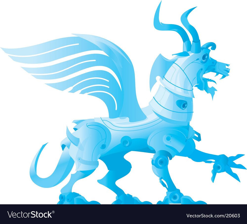 Robot dragon vector | Price: 1 Credit (USD $1)