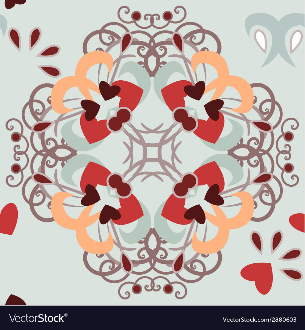Seamless background hearts pattern vector | Price: 1 Credit (USD $1)