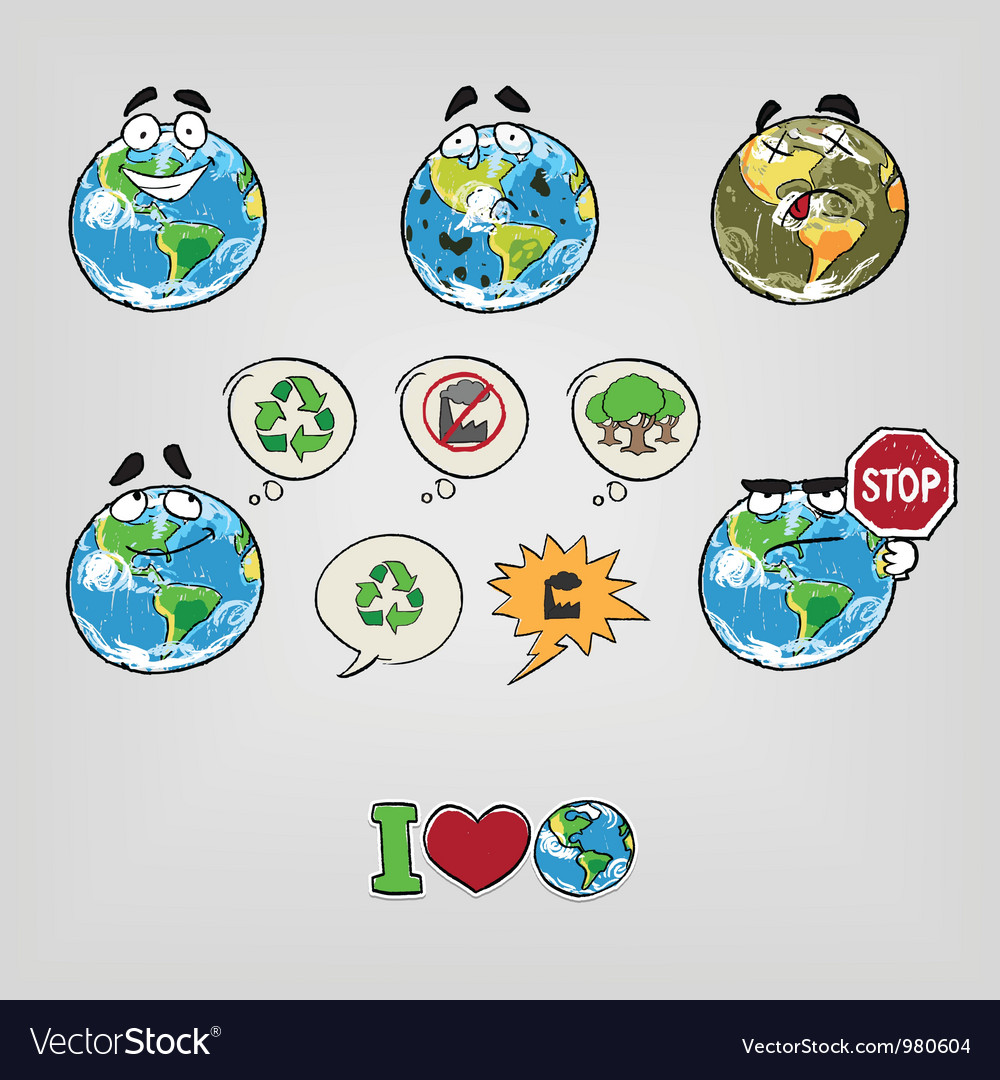 Cartoon earth vector | Price: 3 Credit (USD $3)
