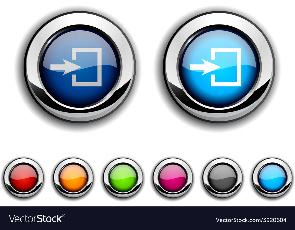 Entrance button vector | Price: 1 Credit (USD $1)