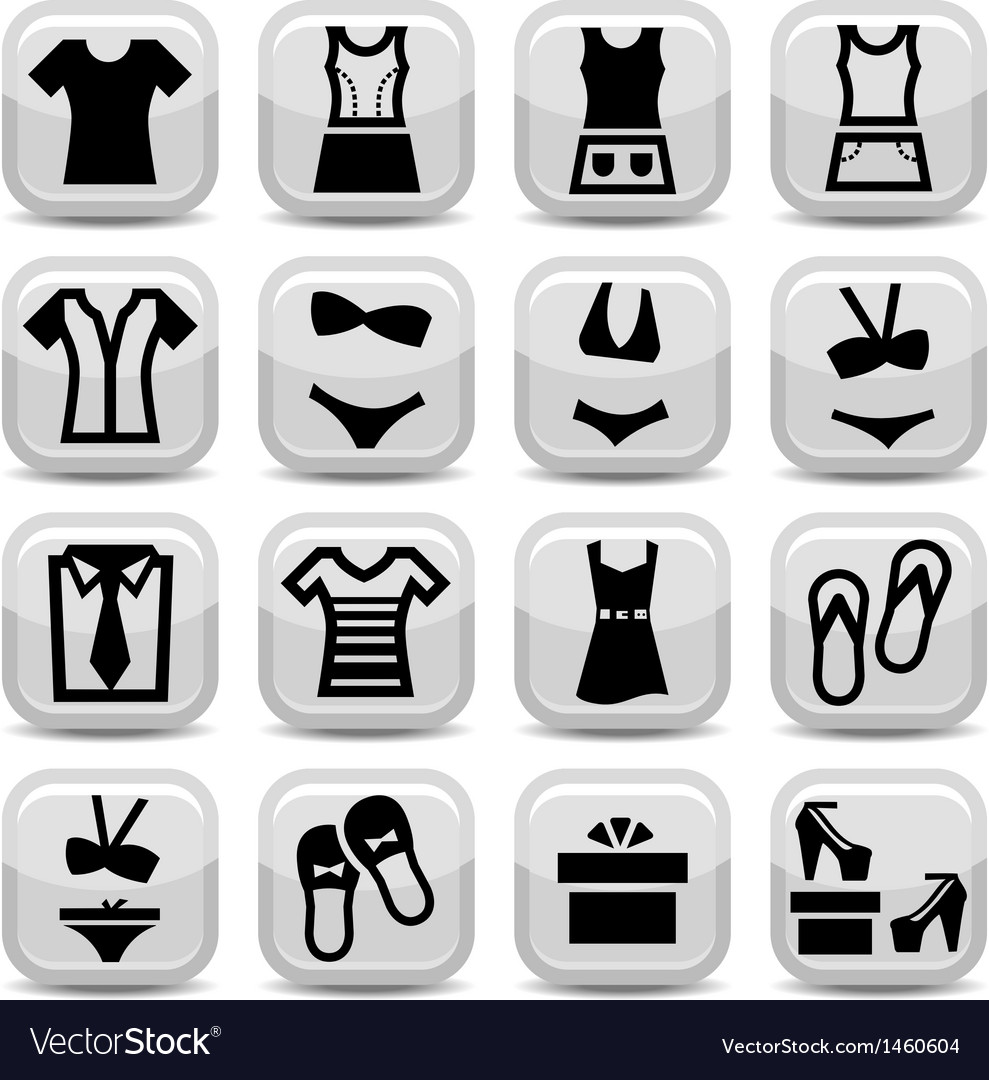 Fashion clothes icons vector | Price: 1 Credit (USD $1)