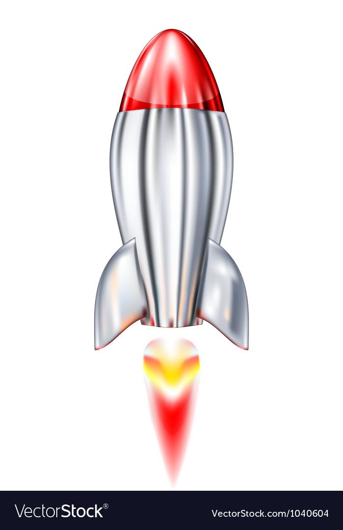 Metal rocket vector | Price: 1 Credit (USD $1)