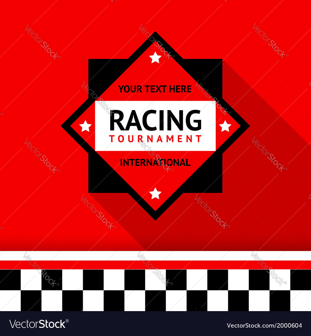 Racing badge 02 vector | Price: 1 Credit (USD $1)