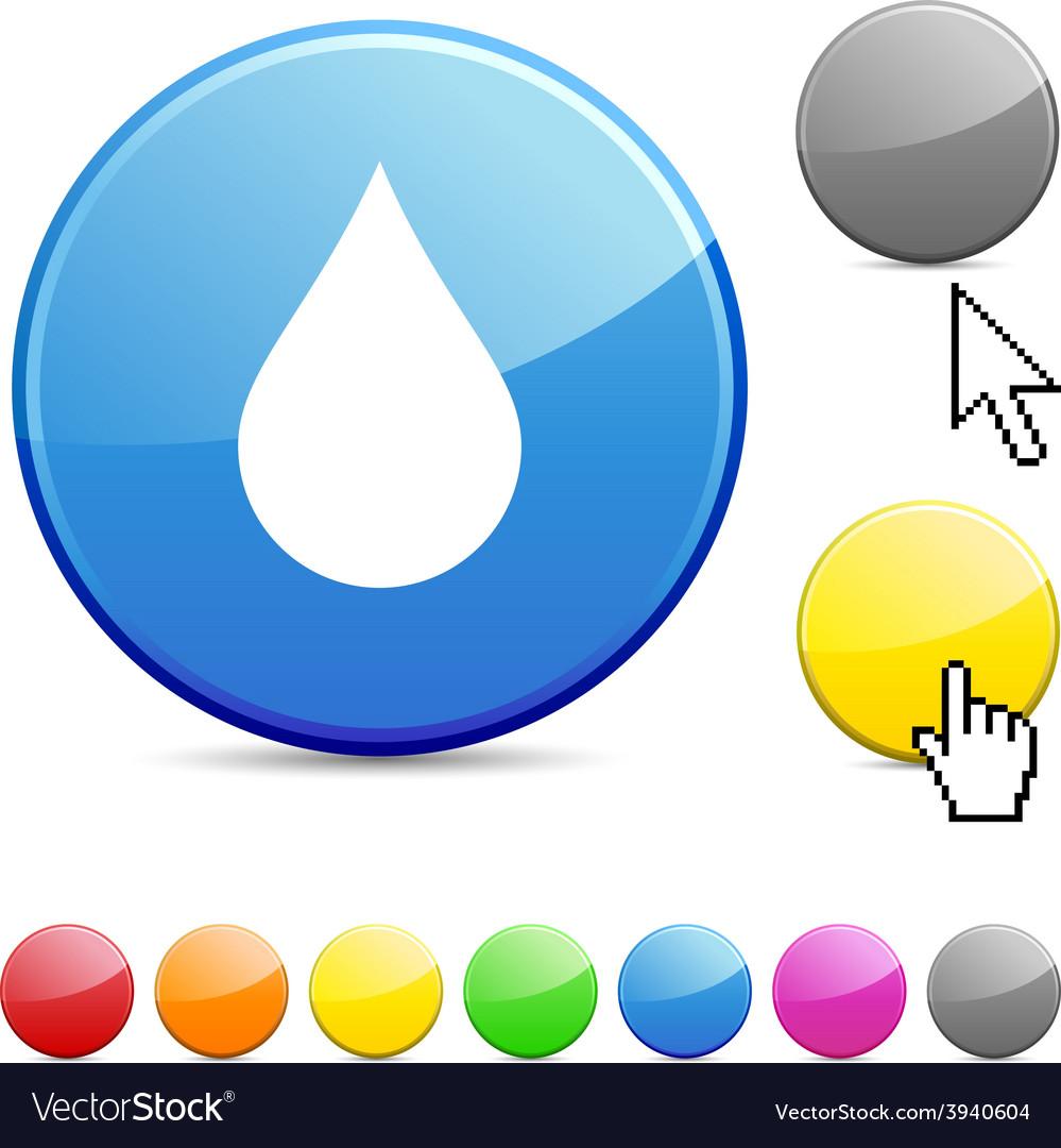 Rain glossy button vector   Price: 1 Credit (USD $1)