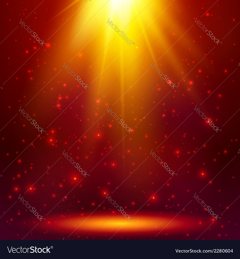 Red shining magic light background vector | Price: 1 Credit (USD $1)