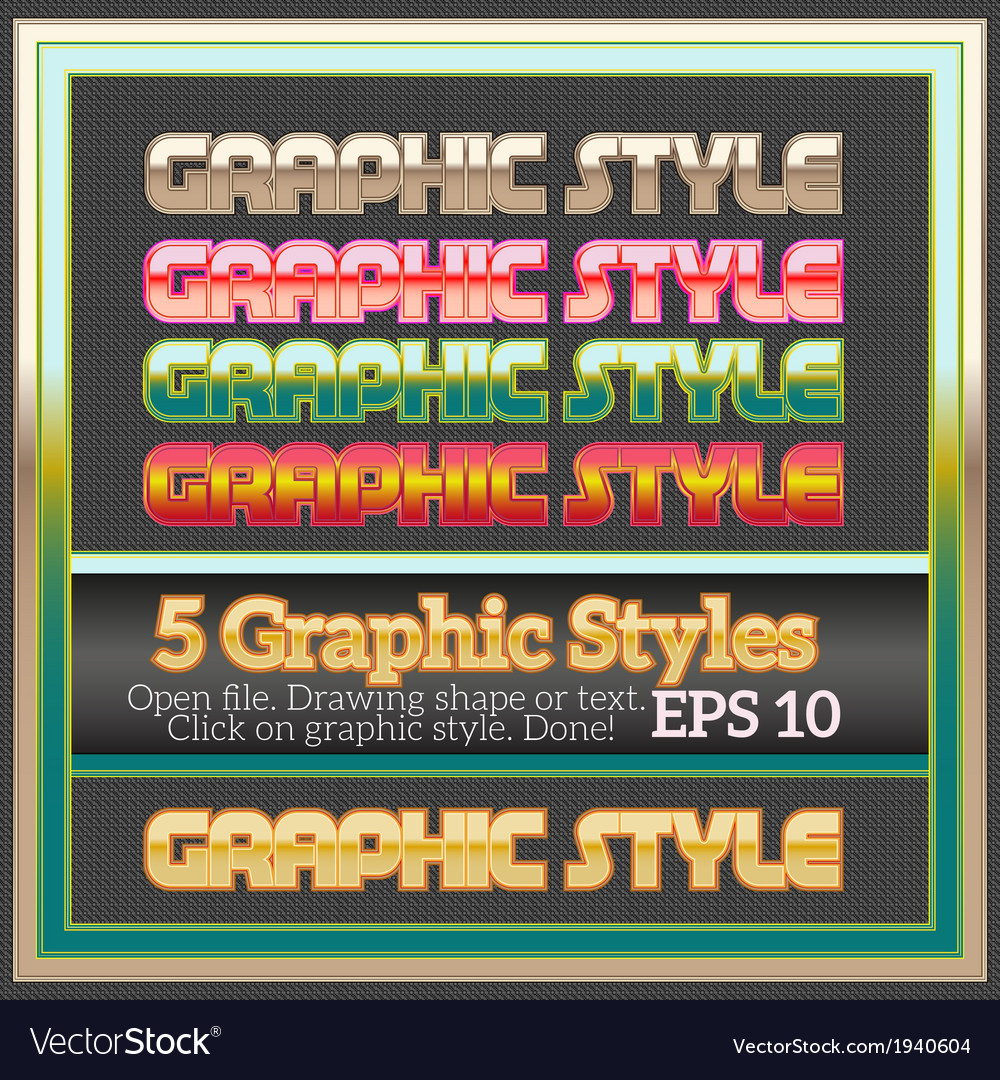 Set of colorful glossy graphic styles for various vector | Price: 1 Credit (USD $1)