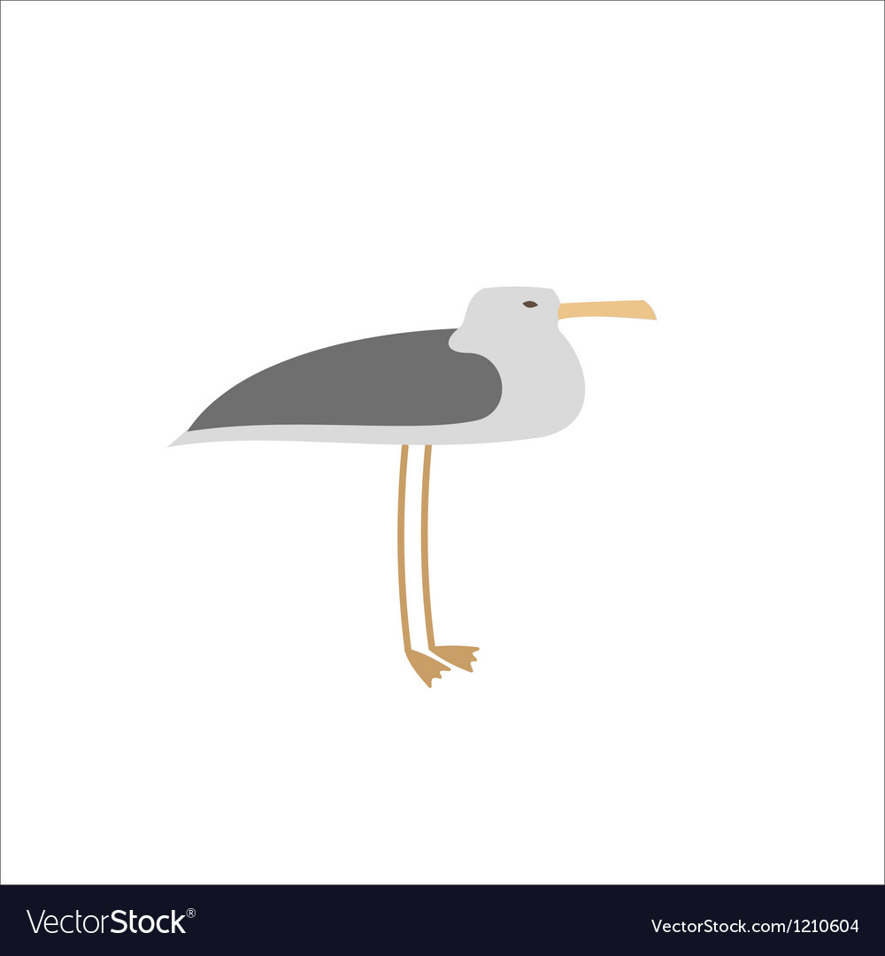Single seagull vector | Price: 1 Credit (USD $1)
