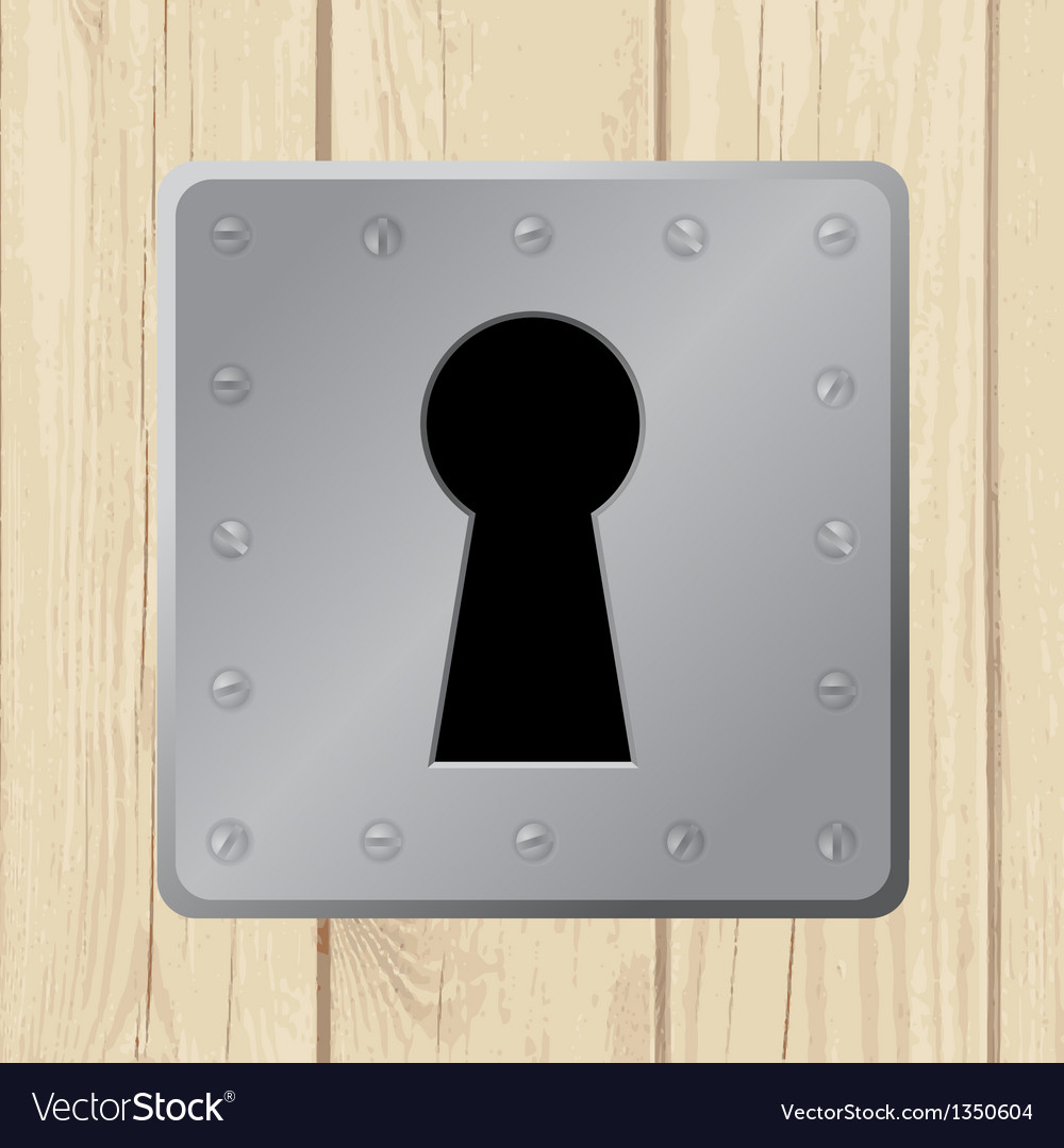 Wooden door keyhole vector | Price: 1 Credit (USD $1)
