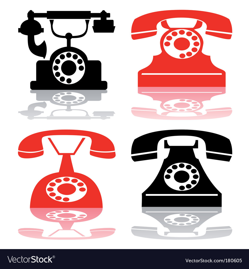 Antique telephone collection vector   Price: 1 Credit (USD $1)