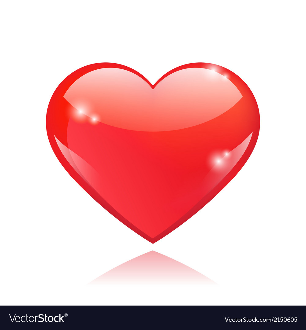 Beautiful red glossy heart shape vector | Price: 1 Credit (USD $1)