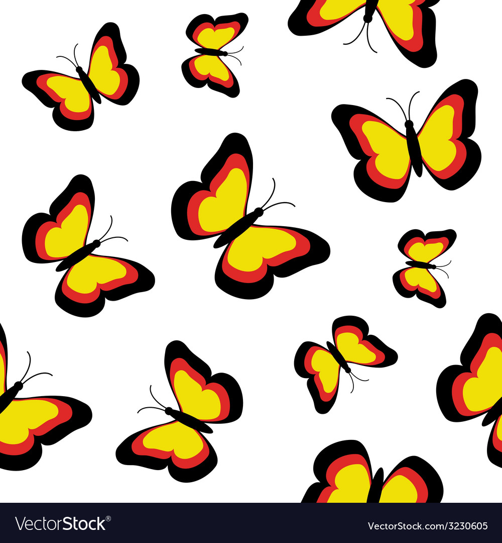 Butterflies seamless vector | Price: 1 Credit (USD $1)