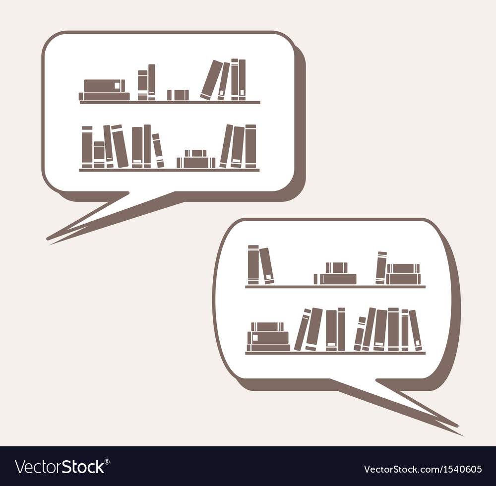 Conversation about knowledge books learning vector | Price: 1 Credit (USD $1)