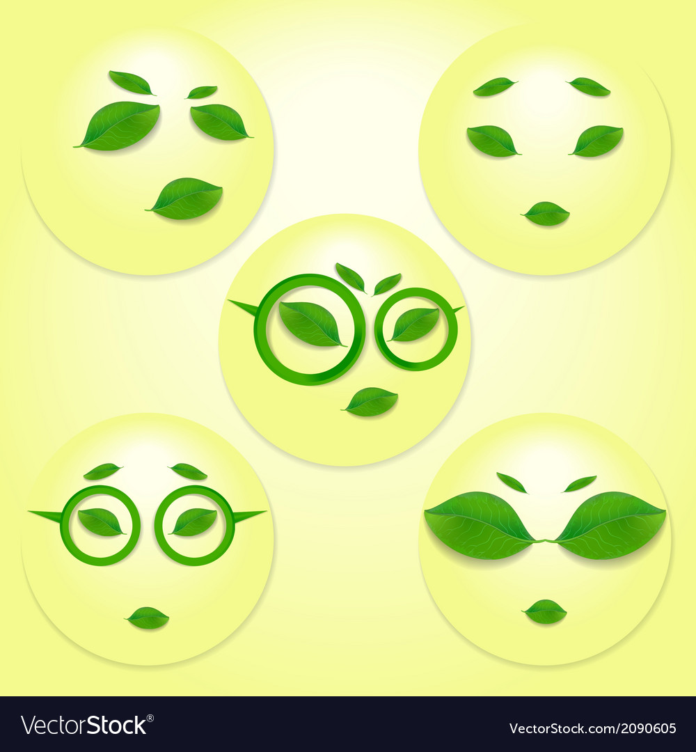 Different expressions of sun face vector | Price: 1 Credit (USD $1)