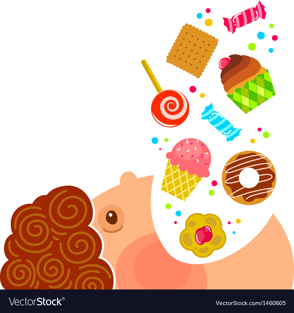 Eating sweets vector | Price: 1 Credit (USD $1)