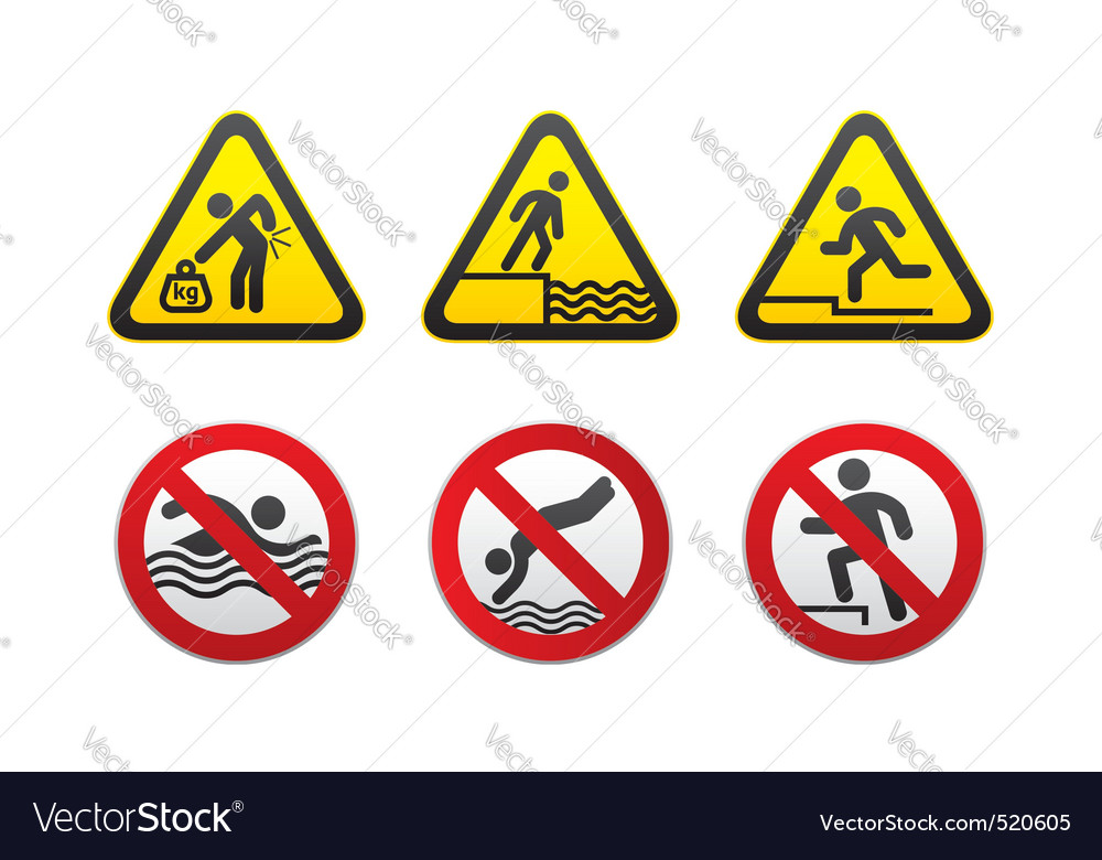G hazard and prohibited signs vector vector | Price: 1 Credit (USD $1)
