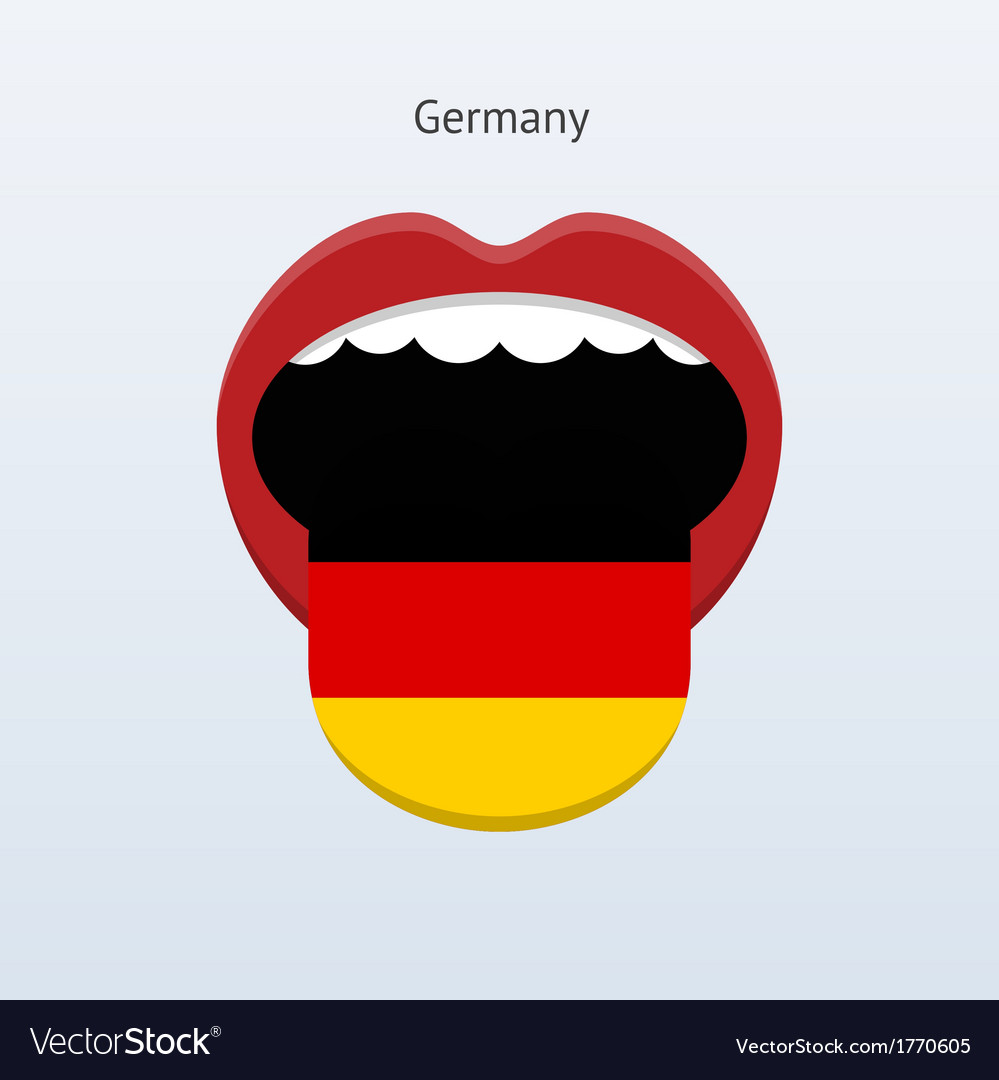 Germany language abstract human tongue vector | Price: 1 Credit (USD $1)
