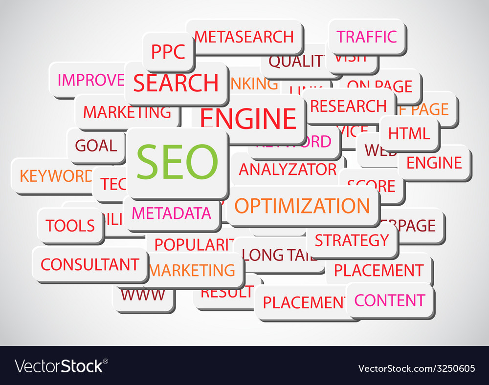 Seo - search engine optimization background vector | Price: 1 Credit (USD $1)