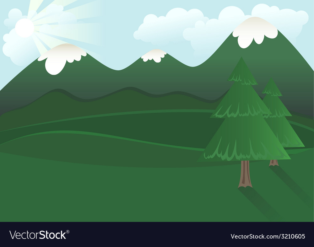 Simple landscape vector | Price: 1 Credit (USD $1)
