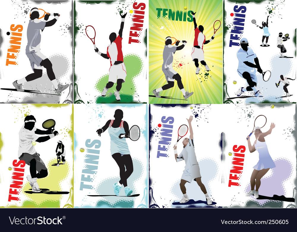 Tennis posters vector | Price: 1 Credit (USD $1)