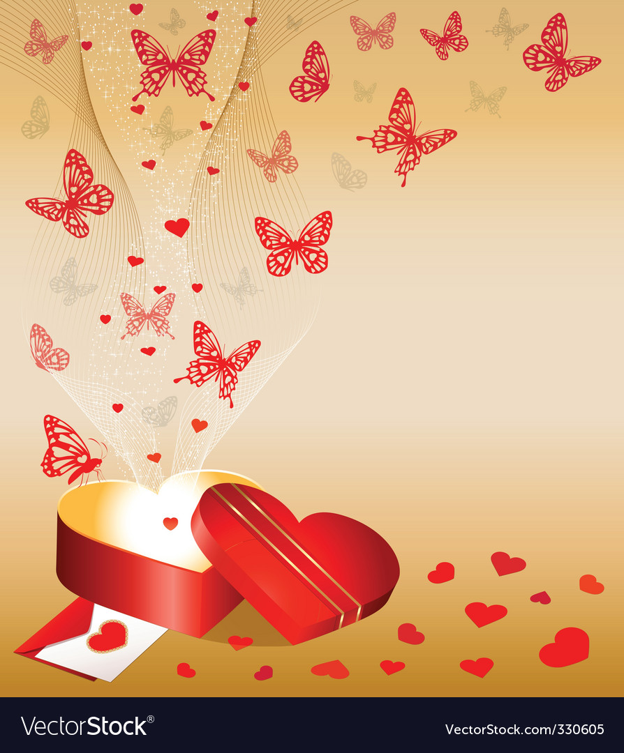 Valentines day background mini vector | Price: 1 Credit (USD $1)