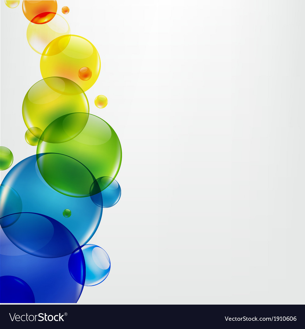Abstract background with colorful balls vector | Price: 1 Credit (USD $1)