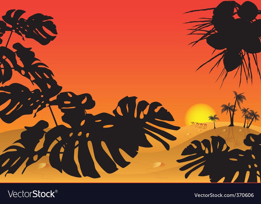African landscape vector | Price: 1 Credit (USD $1)